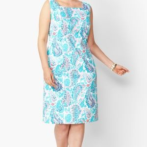 Talbots fresco paisley print sheath dress 18W